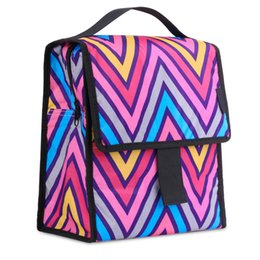 Wholesale Lunch Bag Backpack - Wholesale-Insulated Lunch Bag, MoKo Reusable Outdoor Travel Picnic School Lunch Box Collapsible Tote Bag with Front Pocket, Zipper Closure