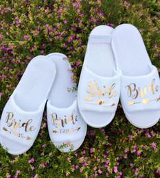 personalizar oro Novia zapatillas novia-tribu dama de honor dama de honor fiesta nupcial spa día despedida de soltera despedida de soltera desde fabricantes