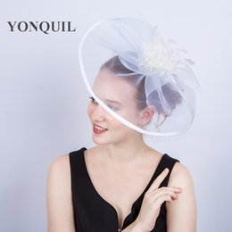 Wholesale crinoline hair - Multiple colors top quality crinoline fascinators hats hair accessories for wedding church Kentucky derby ascot races free shipping SYF190