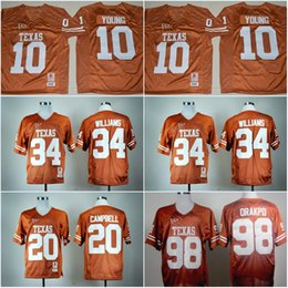 2018 texas longhorns jerseys Texas Longhorns # 7 Shane Buechele # 10 Vince Young # 20 Earl Campbell Jersey # 34 Ricky Williams College Stretched Jerseys Envío gratis rebajas texas longhorns jerseys
