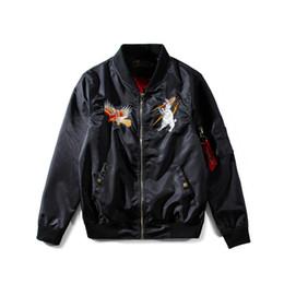 Wholesale Men Original Baseball Jacket - 2017 Fashion Hip Hop Embroidery Jacket Men's Tide Brand Baseball High Street Tribe Ma1 Pilot Personality Original Coat