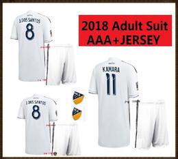 Wholesale Names Galaxies - 2018 Adult suit LA Galaxy Soccer jersey 18 19 GERRARD Los Angeles Camisa KEANE GIOVANI ZARDES ROGERS ANY NAME football jerseys shirt