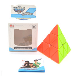 Wholesale Triangle Puzzle Cubes - Cyclone Boys 3x3x3 Triangle Pyramid Pyraminx Magic Cube Speed Puzzle Twist Cubes cubo de Juguetes Educativo for Children