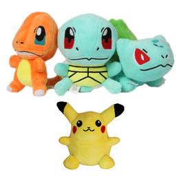 "Wholesale charmander plush - High Quality Pikachu Plush Toys 6 ""15cm Anime Bulbasaur Squirtle Charmander Soft Stuffed Plush Toys For Children Peluche Dolls"