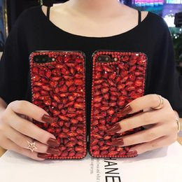 Wholesale Iphone Case 3d Crystals - Luxury 3D Bling Rhinestone Diamond Glitter Shining Back Cover Crystal Girl Design Hard Back Phone Case for Apple iPhone 6 7 8 Plus