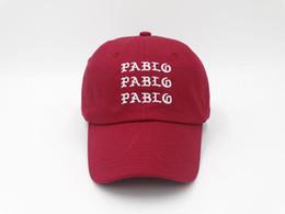 Wholesale ball bearing slides - NEW pablo Hat (slide buckle) red pink kanye west bear dad snapback Baseball cap