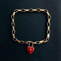 Cloisonne regali online-Collana di moda popolare di alta versione Collana di amore per la signora Design Women Party Wedding Lovers regalo gioielli di lusso per la sposa con BOX