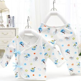 Wholesale Babies Underwear - Newborns Combed Cotton Underwear Pure Cotton Baby two Pieces Four Seasons Clothes Baby Underwear Neonatal Bandage Underwear