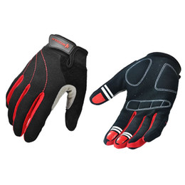 Wholesale long gloves for men - Running Gloves Bike Glove Full Finger Long Road Mountain Bike Gloves Cycling MTB Glove for Man and Women S M L XL Black and red
