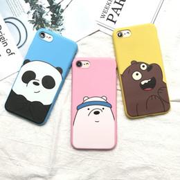 Bande dessinée mignonne We Bare Bears rose bonbon TPU silicone souple cas pour iphone 5 5s 6 6s 6plus 7 8 plus belle couverture Animal Panda ? partir de fabricateur