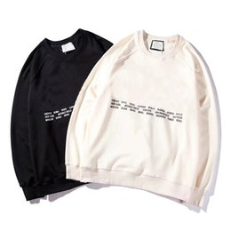 Wholesale designer o - New Brand Hoodie Mens Hoodies and Sweatshirts designer hoodie fashion tide luxury Mens hoody with printed letter 2 color M-2XL