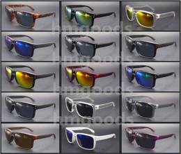 2019 gafas de sol deportivas naranjas Lote Nueva Marca brillo del diseño del deporte al aire libre Eyewear Dot viajes reflectantes Square mujer hombre de las gafas de sol gafas unisex al por mayor de espejo