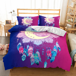 Wholesale white bedding king - Art Wind Bell Pattern Oil Painting Printed Polyester Bedding Sets All Sizes Duvet Cover No Filler