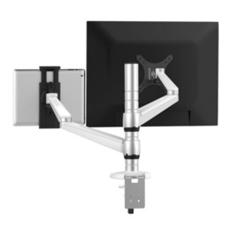 Wholesale Mini Ipad Mount - OA-8Z Height Adjustable TV Mount Multifunction LCD Monitor+Tablet PC Stand Aluminum Rotating Arm Holder for iPad Mini Air