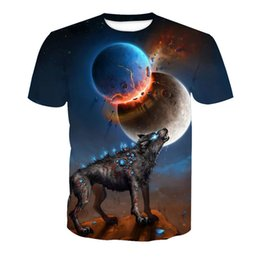 Wholesale Colorful Mens Clothes - Wholesale Free Shipping Mens 3D Colorful Skull Printed t shirts Homme Tees Tops High Quality Clothes 6XL