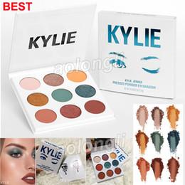 Wholesale Honey Long - IN STOCK Kylie Jenner Eyeshadow Kyshadow The blue honey Eye Shadow Palette BLUE 9 colors HONEY Palette shimmer Eye shadow Kylie Cosmetics