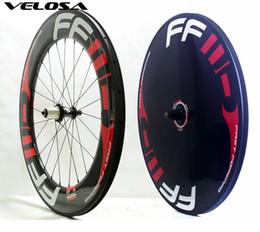Juego de ruedas de carbono para pista / contrarreloj / bicicleta de triatlón delantero 88 mm + disco trasero rueda de carbono, juego de ruedas de disco 88 mm + desde fabricantes