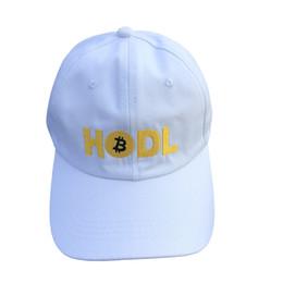 2019 fascinadores de navidad HODL Bitcoin Sombrero 100% Algodón Sombrero de papá Tendencia Gorra de béisbol rara Bitcoin Signo Bordado Snapback Cap Tumblr HipHop Hombres Mujeres