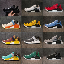 Wholesale Brown Flats Size 11 - Wholesale NMD Human Race Pharrell Williams Hu trail NERD Lightweight High Quality 2018 New Sports Shoes For Sale boots Size 5-11