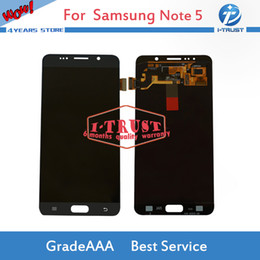 Wholesale Galaxy Note Screen Assembly - 100% Tested LCD Display For Samsung Galaxy Note 5 Good LCD Display Touch Screen Digitizer Assembly Replacement With Free DHL Shipping
