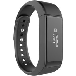 Wholesale french activities kids - I5 Plus Smart Bracelet Wristband Activity Tracker SmartBand Passometer Sleep Monitor for Android IOS Touchpad IP67 Waterproof 1PC LOT