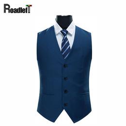 Wholesale Men Satin Waistcoat - Men Spring & Autumn slim fit business suit vest Mens blazer vests sleeveless jacket cotton single breasted casual waistcoat