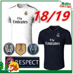 Wholesale Madrid Soccer Jerseys Shorts - 18 19 Real madrid Soccer Jersey Ronaldo Modric Kroos Sergio Ramos Bale 2018 2019 ASENSIO ISCO shirt Champions League