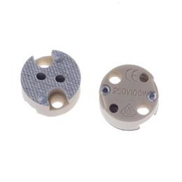 cable base Rebajas G5.3 MR16 Enchufe de bombilla G5.3 MR16 Base de lámpara Portalámparas de cerámica sin cable Enchufe recto DIY
