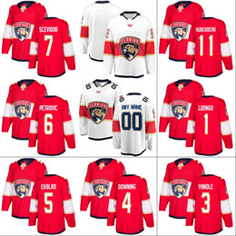 16 Aleksander Barkov Florida Panthers Jersey 3 Keith Yandle 11 Jonathan  Huberdeau 19 Michael Matheson Hockey Jerseys Red White f96925419