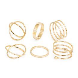 2017 горячая уникальный комплект кольца панк кулак золотые кольца для женщин палец кольцо 6 шт. кольцо комплект лучшие продажи от