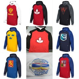 Wholesale Usa Hoodies - 2016 World Cup Of Hockey WCH Hoodie Team USA Czech Republic Europe Finland North America Russia Sweden Jerseys Sweatshirts Men Women Youth