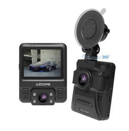 Автомобильный видеорегистратор dual gps онлайн-Мини двойной объектив автомобильный видеорегистратор тире Cam передняя Full HD 1080P / задний 720P видеорегистратор автомобиля камера ночного видения GPS