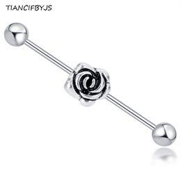 CZ Star Stud Barbell Bar Helix Anneau Boucle d/'oreille Tragus Body Jewelry Piercing Oreille 16 G