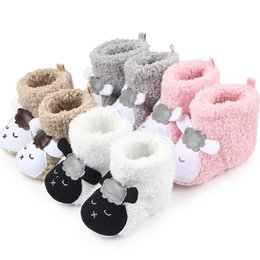 Wholesale Toddler Fashion Boots Brown - 1 Pair 2017 Fashion Winter Warm Cute Panda Animal Style Baby Boots Fleece Cotton-padded Shoes 0-18 Month Infant Toddler Shoes
