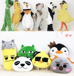Almohada de corea online-Candice guo juguete felpa animal de la historieta 2pm Corea del sur panda polluelo gato plátano pingüino Koala almohada cojín chica regalo de cumpleaños 1 unid