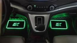 2019 candeeiros de pé 4 pcs interior do carro atmosfera lâmpada piso tapetes led lâmpada decorativa controle app colorido piscando luz rgb com controle remoto candeeiros de pé barato