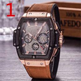 Wholesale Running Calendar - Swiss brand HB men's luxury Watches 6 pin run seconds fashion men Watch AAA clock HB Relogio quartz classic Wristwatches montre homme