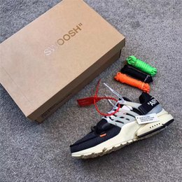 Wholesale Red Tens - Authentic The Ten x Air Presto Virgil Abloh Men Women Running Shoes Sneakers Top Outdoor Sport Shoes With Original box