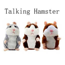 Wholesale Big Stuffed Plush - New Talking Hamster Talk Sound Record Repeat Hamster Stuffed Plush Animal Kids Child Toy Talking Hamster Plush Toys Christmas Gifts