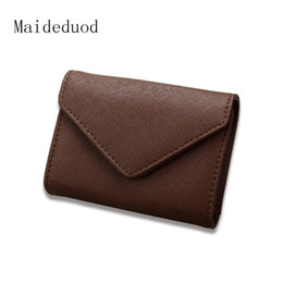 Wholesale Office Wallets - Maideduod Card Holder high-grade commercial office gifts of stainless steel clip name card box boutique Oracle lines name card