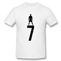 Casual Man Cristiano Ronaldo CR7 Camiseta Pure Cotton Men's Gran diseño Short-sleeved Big Size Camiseta desde fabricantes