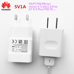 Wholesale Honor 3x - Original 5V1A Travel Charger Adapter Micro USB Data Sync Charging Cable For Huawei P6 P7 P8 lite honor 4 5 6 4C 5C 3X 4X