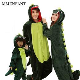Wholesale dinosaur pajamas adults - Animal pajamas couple Family matching outfits Adult onesie Mother and daughter clothes Totoro Dinosaur Unicorn Pyjamas women