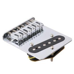 2019 гитара гайка долбежные Приемистость моста 6 седловин для частей электрической гитары Telecaster Обвайзера