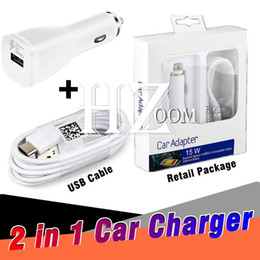 Wholesale Iphone Auto Charger - Fast Car Adapter Dual Single Quick Chargers 1.2m Type-C USB Cable Auto Universal 15W Car Charger for Samsung S9 S8 Note8