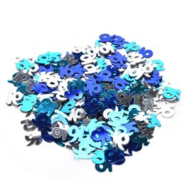 Wholesale Party Scatters - 1 Pack HAPPY BIRTHDAY Confetti For Brithday Party Decoration Blue Metallic Glitz Scatters