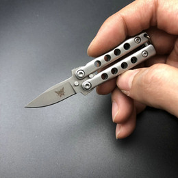 Wholesale Mini Utility Knives - THE ONE Mini Balisong knife Utility outdoor gear camping hiking pocket knife knives