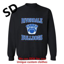 Wholesale Funny Bulldog - 2018 New Funny Hoodies Men Riverdale Bulldogs Men's Sweatshirt Long Sleeve novelty hombre Harajuku Hoodies Women Top Plus Size