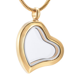 Wholesale 14k gold heart locket - Stainless Steel Cremation Screw Memorial pendant Love and Heart Urn Necklace Locket Keepsake Jewelry