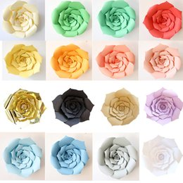 Wholesale paper rose flowers - 2Pcs set DIY Paper Flowers Artificial Rose Flowers Wedding Window Decoration Crafts Baby Shower Birthday Party Home Decorations HH7-1083